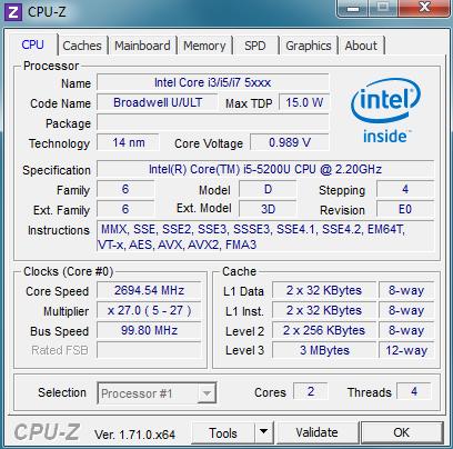 پردازنده لپ تاپ استوک لنوو مدل ThinkPad T450